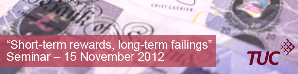 Short-term rewards, Long-term failings seminar banner