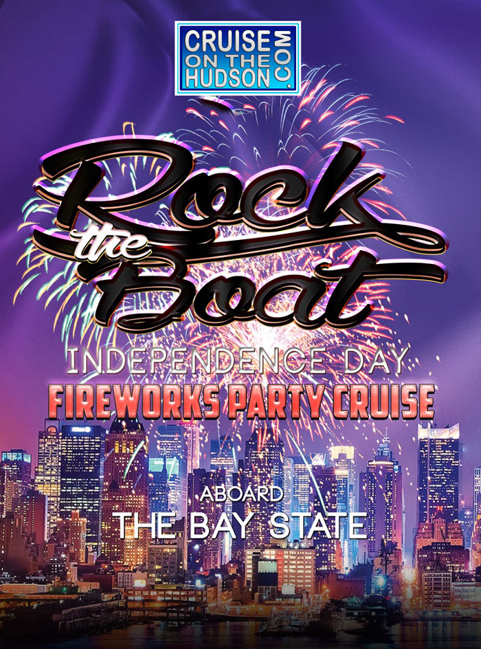 Rock The Boat NYC Independence day Fireworks Party Cruise Bay State Fourth of July 2019