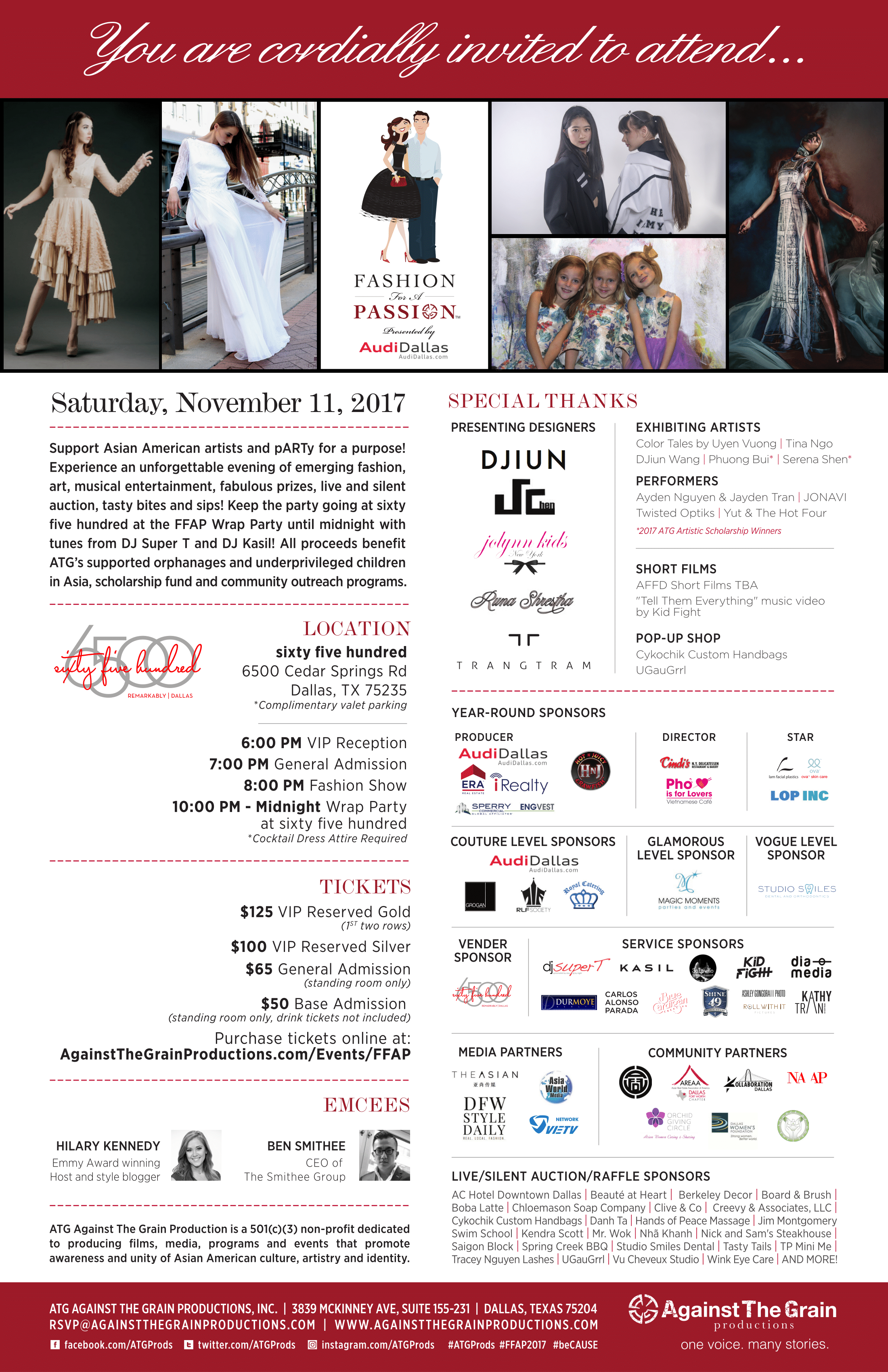 2017 Fashion for a Passion poster