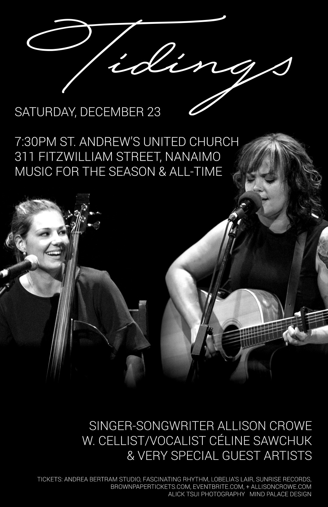 Nanaimo Tidings - Allison Crowe, Celine Sawchuk & Super Special Guests