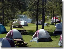 Camp at the American River Music Festival, Coloma