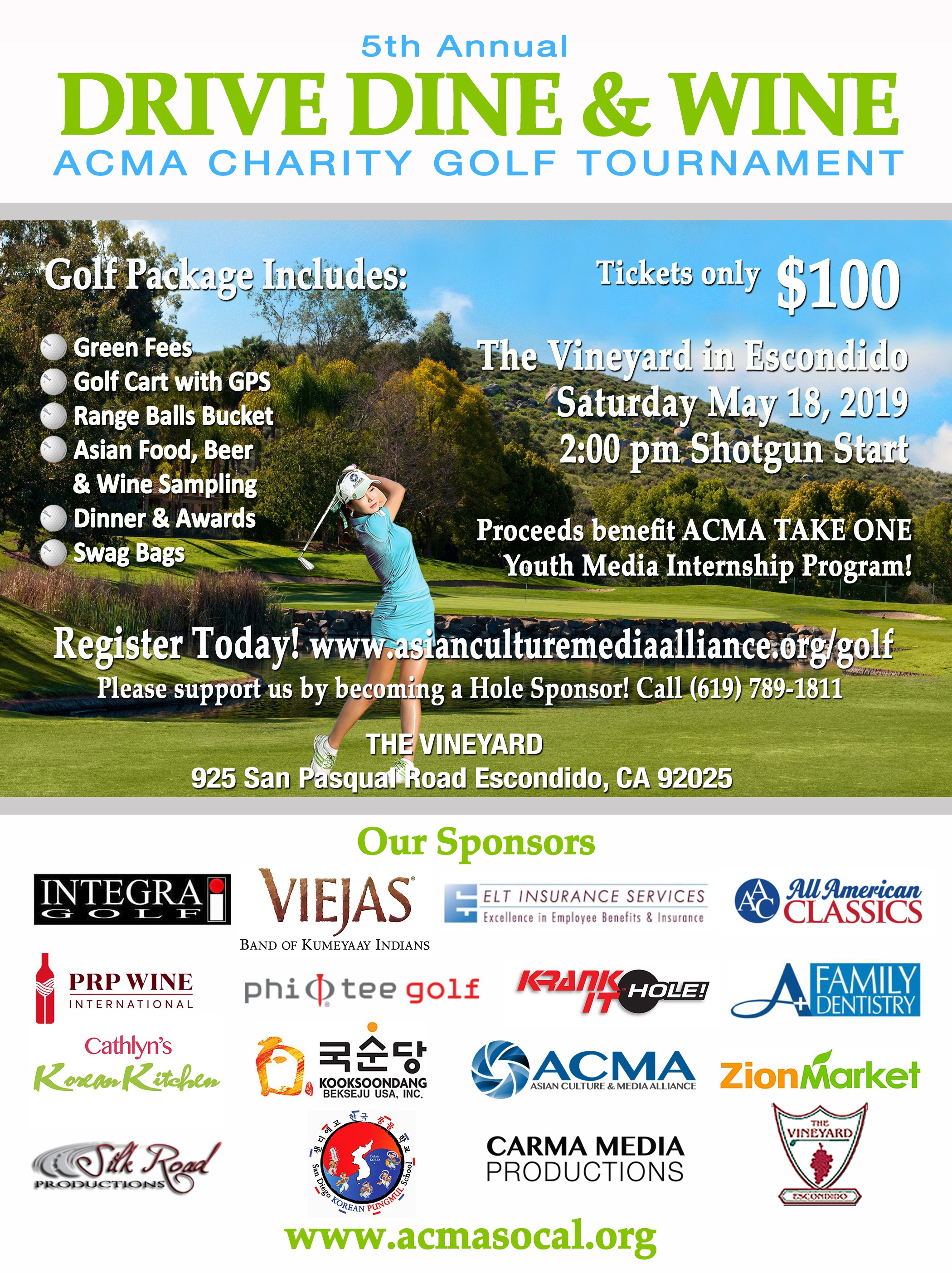 ACMA fifth annual Drive Dine and Wine Charity Golf Tournament