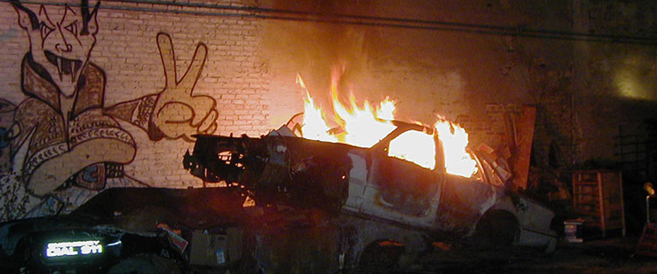 Halloween Burning Cars