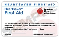 Attentive Safety Heartsaver First Aid Card