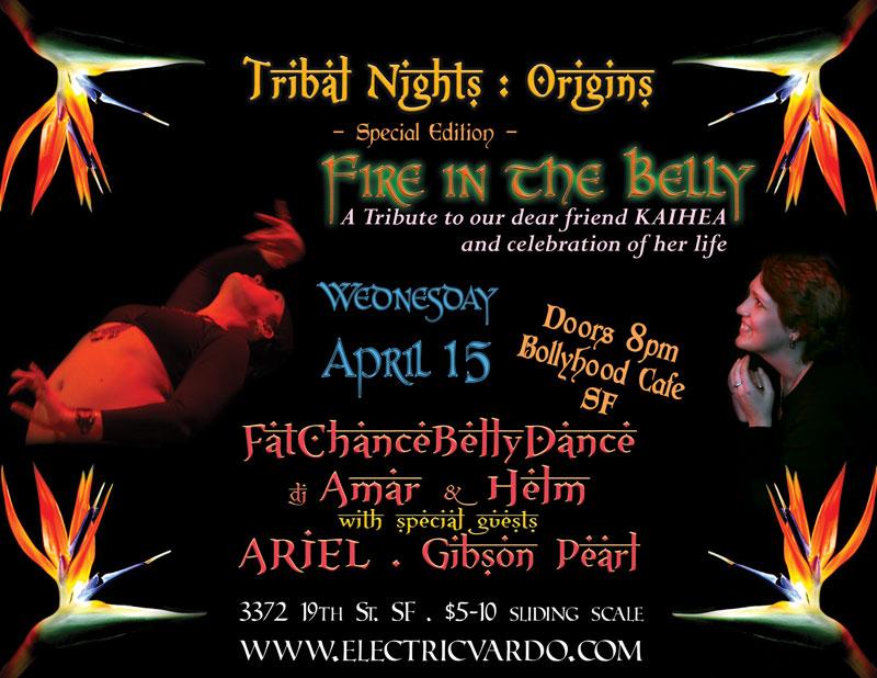 Kaihea Tribal Nights flyer