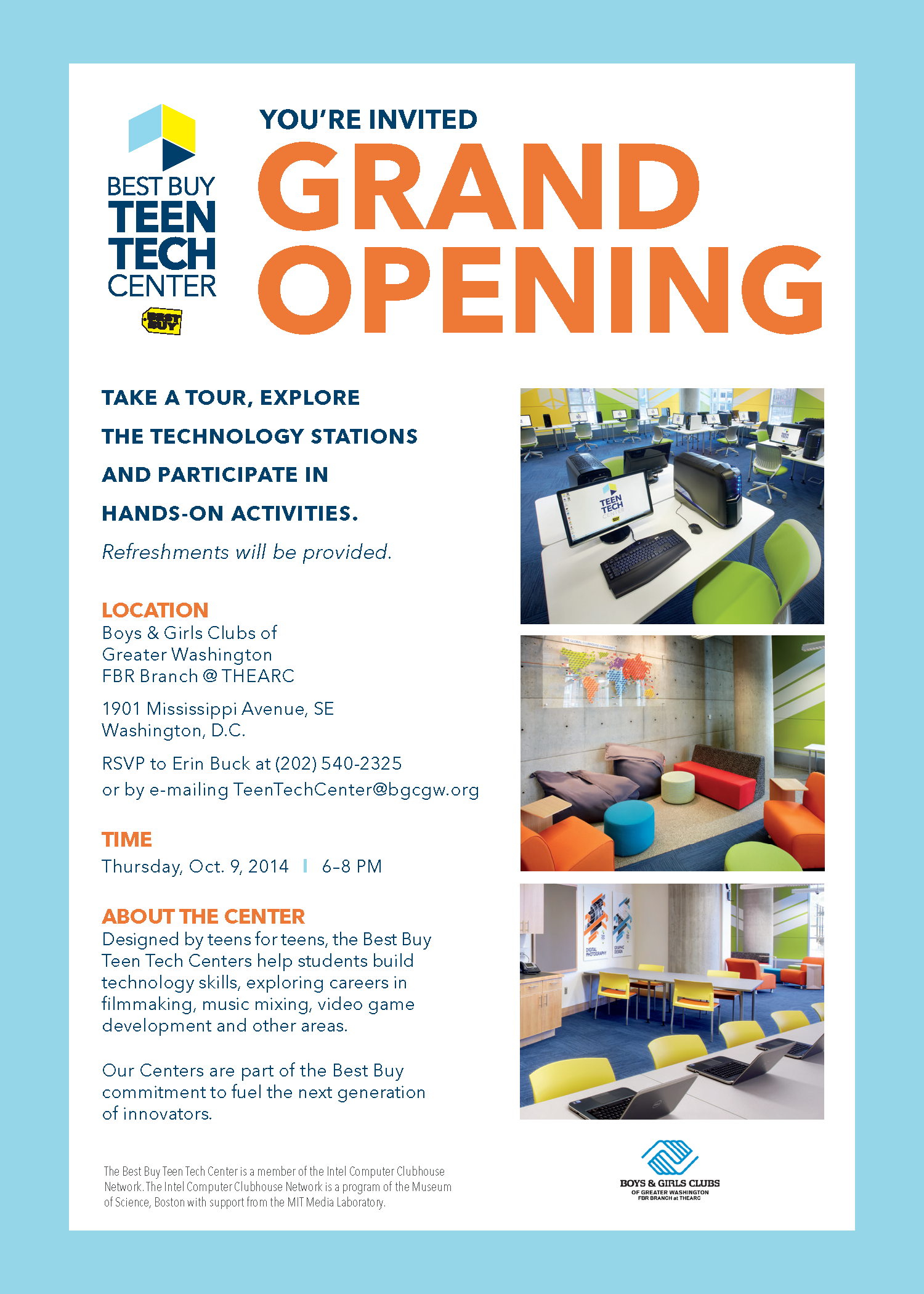 Select here for more details: Teen Tech Center GRAND OPENING!