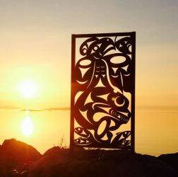 The Salish Sea Iron Sculpture