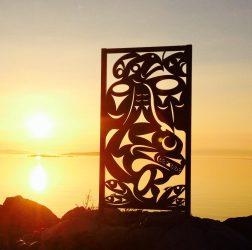 The Salish Sea Iron Sculpture