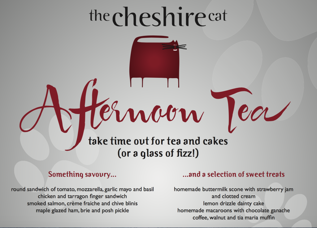 menu afternoon tea