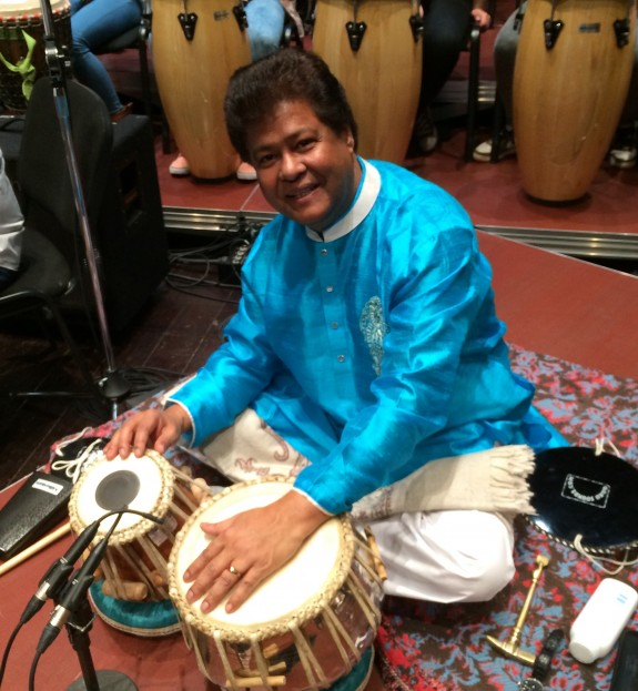 Yousuf Ali Khan playing the Tabla