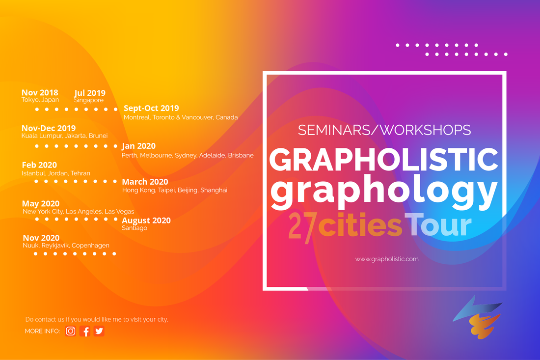Grapholistic Graphology Seminars 27 Cities Tour