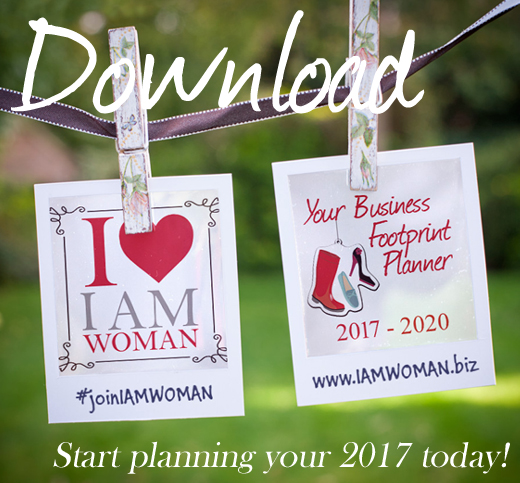 Your Business Footprint Planner 2017 I AM WOMAN