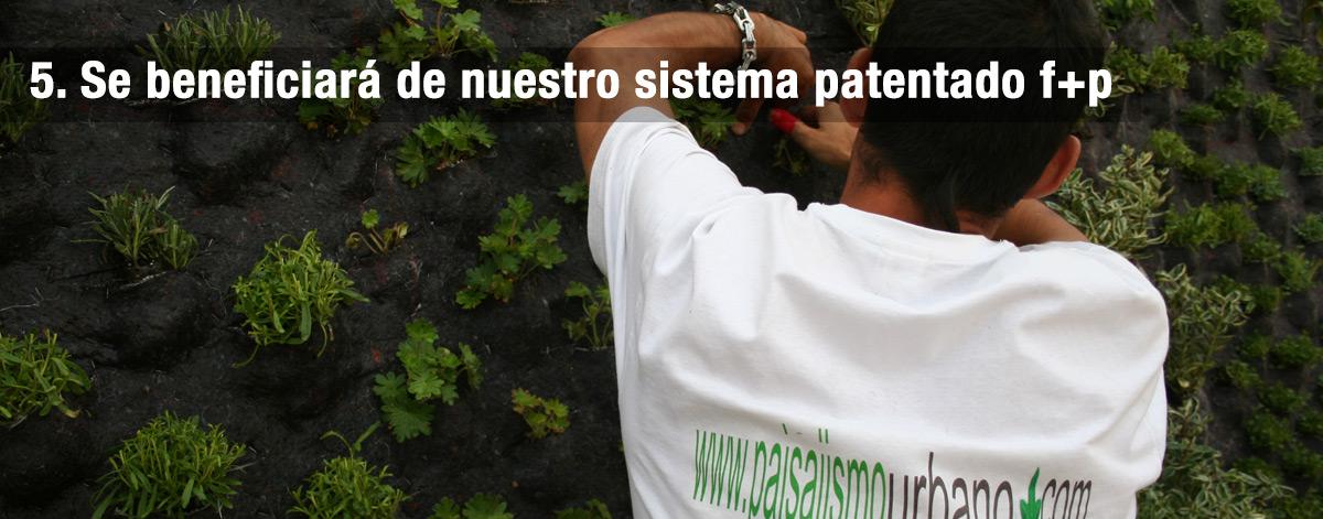 Se beneficiará de nuestro sistema patentado f+p