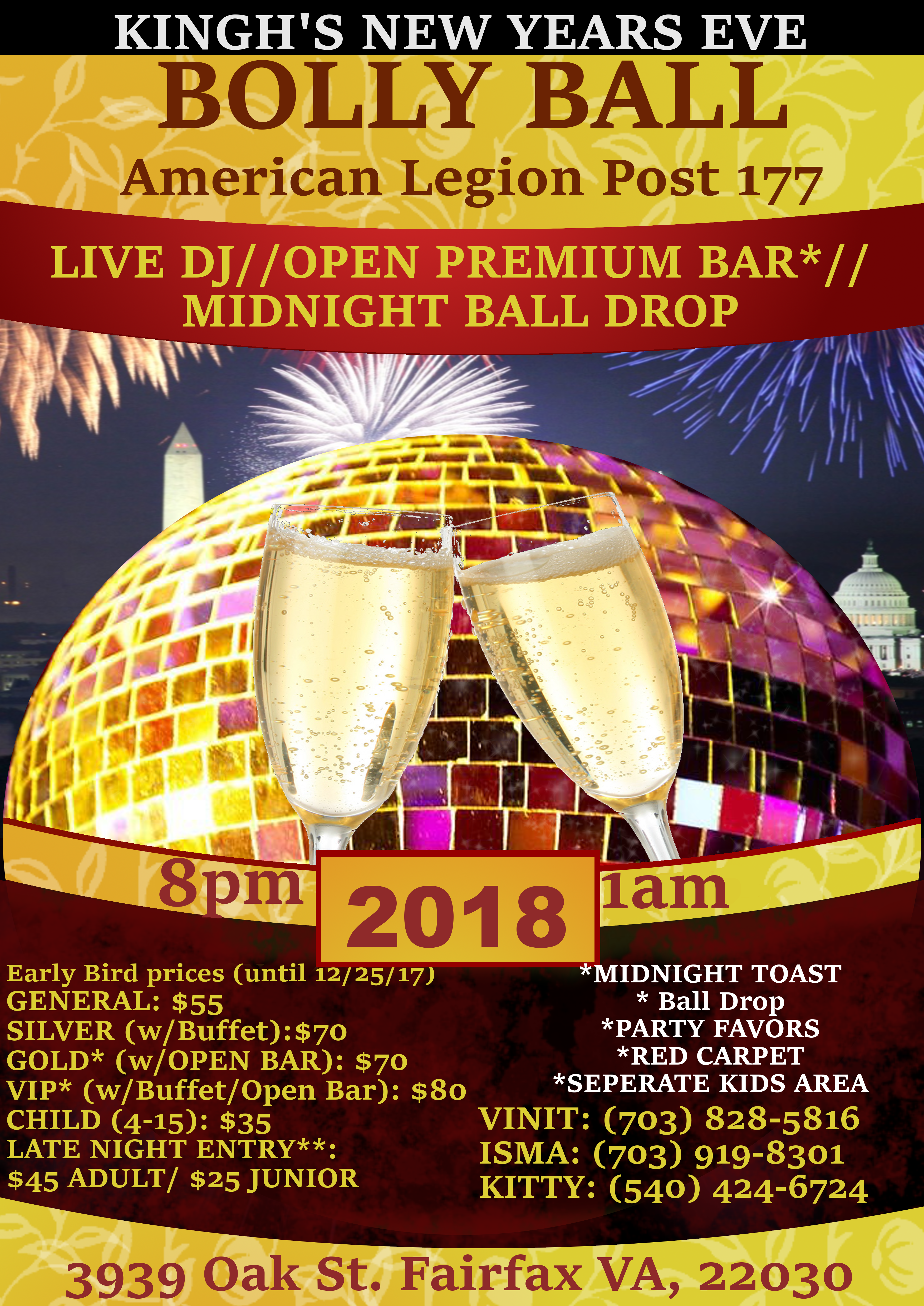 Bolly Ball Flyer 2018