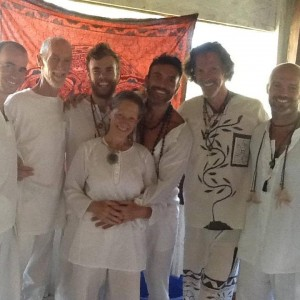 Debra Sofia Magdalene with brothers in the Peruvian Amazon Rainforest