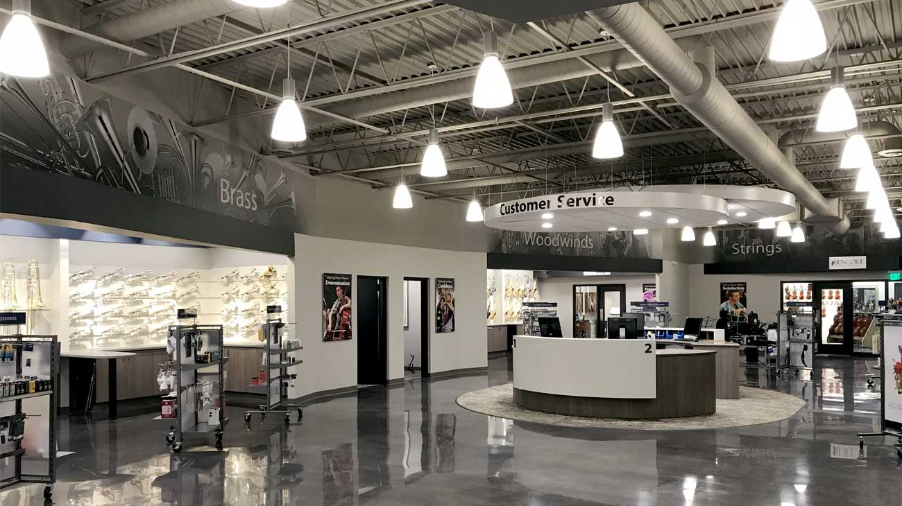 Paige's Music - new retail showroom