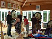 A wide range of gongs will be available during the residential for participants to usea