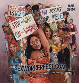 Sex Worker Fest Banner by Ingrid Mouth