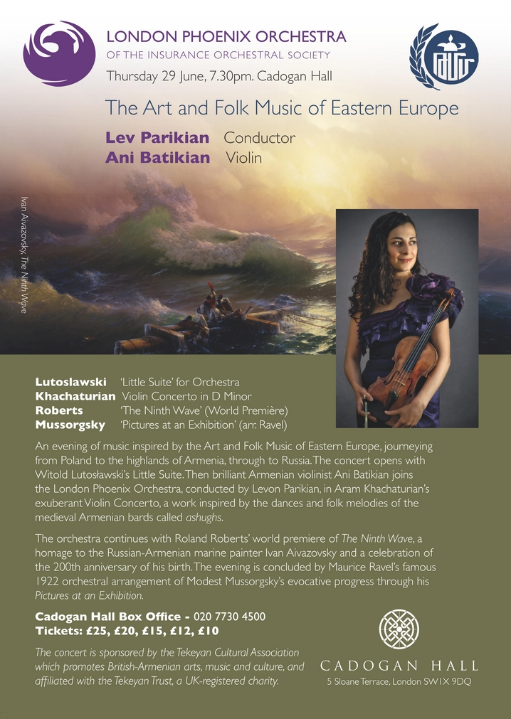 Cadogan Hall: Ani Batikian and the London Phoenix Orchestra