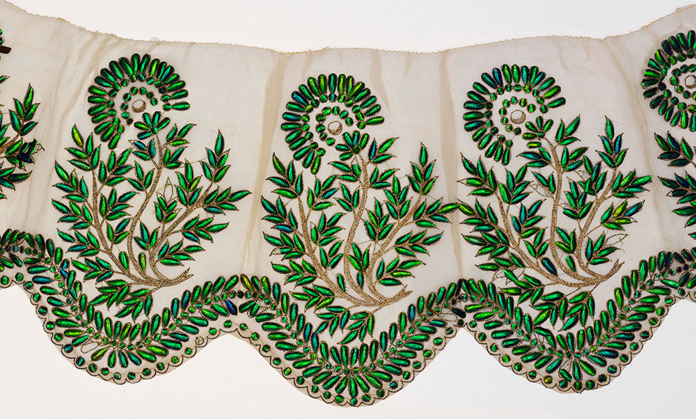 Muslin embroidered textile from Hyderabad, India