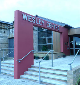 Entrance to Wesley Centre, Maltby